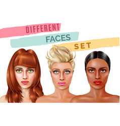 Model face set vector