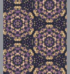Moody wax print daisy flower background seamless vector
