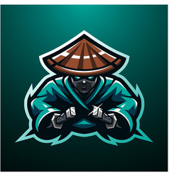 Ninja esport mascot logo vector