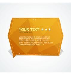 Orange text box vector