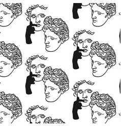 pattern with hand drawn flat of vector image