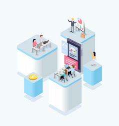 people work in a team teamwork and development vector image