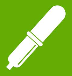 pipette icon green vector image