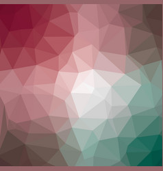 Polygonal background in raspberry pink and jade vector