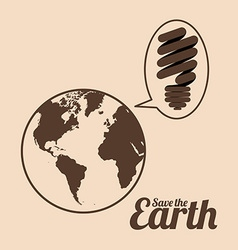 Save the Earth design vector image
