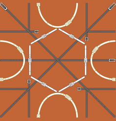 Seamless geometric pattern with belts and buckles vector