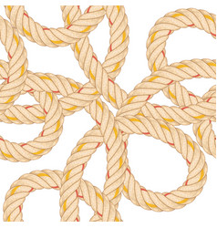 seamless pattern with rope bending vector image
