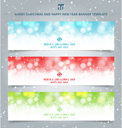 set of winter christmas banners web winter white vector image