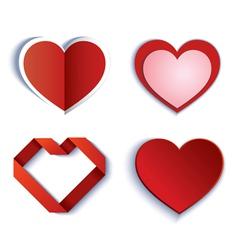 Set symbol heart vector