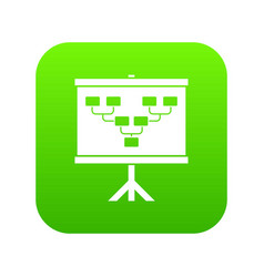 Soccer or football field scheme icon digital green vector