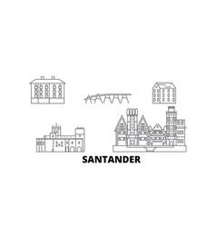 spain santander line travel skyline set spain vector image