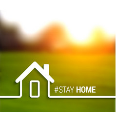 stay at home and safe vector image