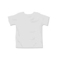t shirt mockup template with shadow top vector image