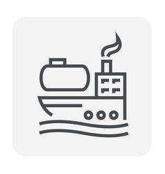 tanker icon black vector image