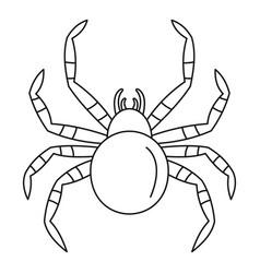 Tarantum spider icon outline style vector