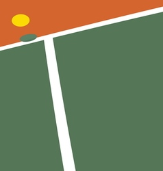 Tennis court ball point vector image