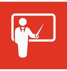 The teacher icon Training and presentation vector