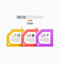 Three steps infographic timeline presentation vector