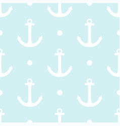 Tile sailor pattern with white polka dots vector