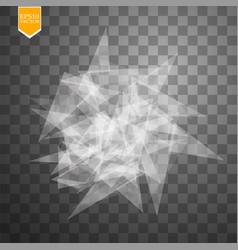 Transparent broken glass on transparent background vector