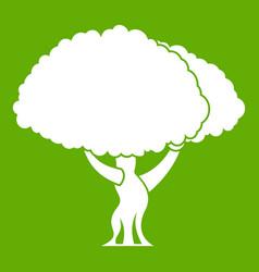 tree icon green vector image