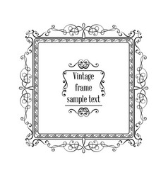 vintage ornamental greeting card template vector image