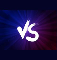 vs letters on dark background vector image