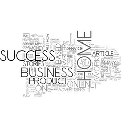 What i learned about home business success text vector