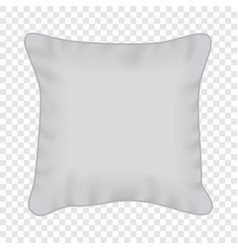 White square pillow mockup realistic style vector