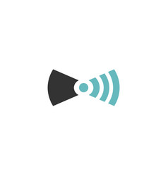 wifi tie icon vector image