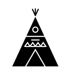 Wigwam - decorated icon vector