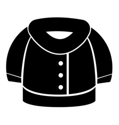 winter jacket silhouette vector image