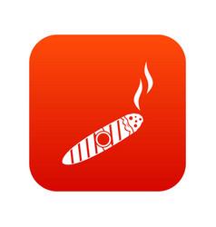 cigar icon digital red vector image