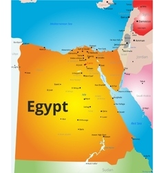 color map of Egypt vector image vector image