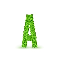 Green Leaves font A vector image