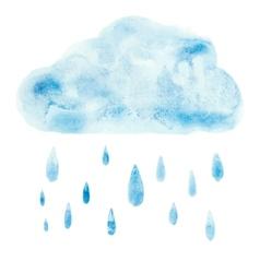 Hand draw aquarelle art paint blue watercolor vector image vector image