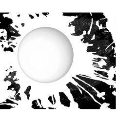 monochrome grunge background blot vector image vector image