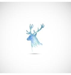 Watercolor deer head vector