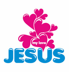 christian print and bible symbols vector image vector image