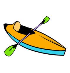 kayak icon icon cartoon vector image vector image