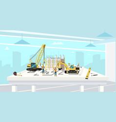 project in architect office of construction house vector image