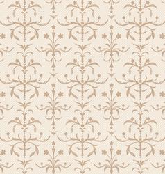 seamless beige flowers texture vector image vector image