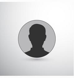 user avatar circle icon vector image
