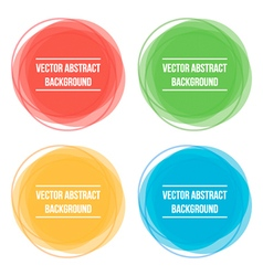 Colorful abstract round frames backgrounds vector image vector image