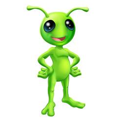 cute cartoon alien vector image vector image