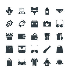 Fashion and Clothes Cool Icons 1 vector image vector image
