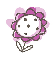 A flower is placed vector image