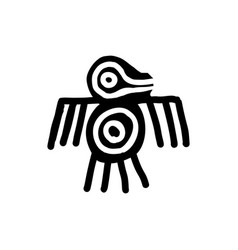 bird icon aztec vector image