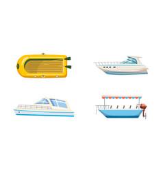 boat icon set cartoon style vector image
