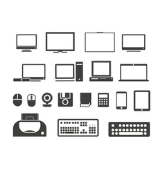Electronuic equipment icons collection vector image vector image
